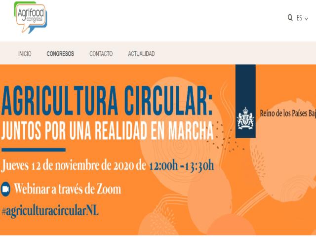 Imagen destacada de La embajada de Países Bajos organiza un webinar sobre Agricultura Circular - 12 de noviembre de 2020